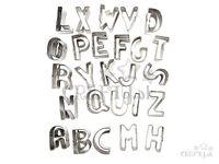 Kovové vykrajovačky abeceda - sada