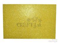 Machová guma MOOSGUMMI s glitrami - svetlá zlatá