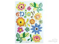 Papierové dekoračné nálepky - enjoy