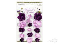 Papierové kvety 16ks - fialové - Nature's Grace