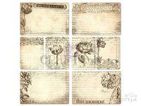 Papierové vintage kartičky - 16ks