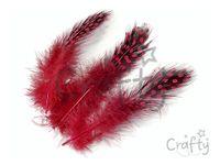 Pierka perličky 20ks - červené