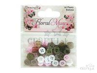 Plastové gombíky mix 60ks - Floral Muse