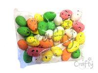 Polystyrénové vajíčka 5cm - farebný mix