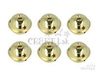 Rolničky 40mm 6ks - zlaté