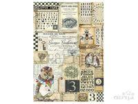Ryžový papier A4 - sovy a abeceda
