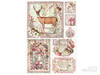 Ryžový papier A4 - vianočné obrázky
