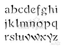 Šablóna 20x15cm - abeceda