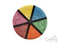 Sada glitrov s dávkovačom - 6x13g - jasné farby