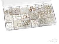 Sada korálok v akrylovej krabičke - perleťový mix 200g