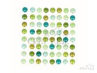 Samolepiace perličky 8mm 64ks - Green