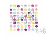 Samolepiace perličky 8mm 64ks - Multicolor