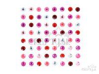 Samolepiace štrasy 6mm 64ks - Pink