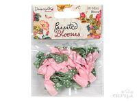 Saténové mašličky s bodkami 20ks - ružové a olivové