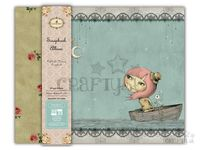 Scrapbook album s textilným povrchom - Adrift