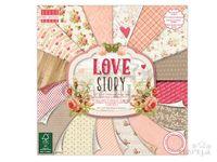 Scrapbookové papiere 48ks - Love Story