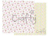 Scrapbookový papier 30x30cm - kolibrík a kvety