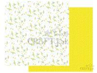 Scrapbookový papier 30x30cm - maľované kvety