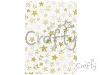 Transparentný papier 115g - hviezdy