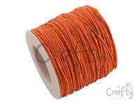 Vosková niť 1mm - oranžová