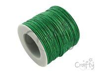 Vosková niť 1mm - trávovo zelená