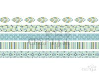Vzorované lepiace WASHI pásky (masking tape) 15mm 5x5m - mozaika