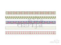 Vzorované vianočné lepiace WASHI pásky 15mm 5x5m - Home Sweet Home
