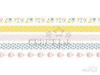 Washi pásky pastelové farby - 15mm 5x5m