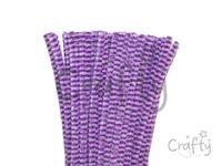 Žinilkový drôt 6mm 30cm DUO - fialový