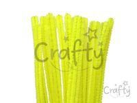 Žinilkový drôt 6mm 30cm - neónový žltý