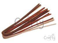Žinilkový drôt 6mm 50cm - hnedé odtiene