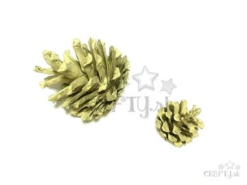 Aranžérska borovicová šiška - pastelová žltá