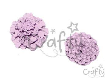Aranžérska šiška plochá - pastelová fialová