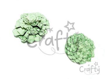 Aranžérska šiška plochá - pastelová zelená