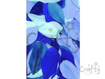 Aranžérske pierka hladké - 10g - modrý mix