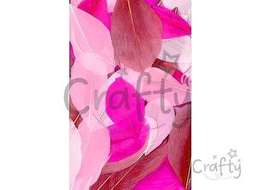 Aranžérske pierka hladké - 10g - ružový mix
