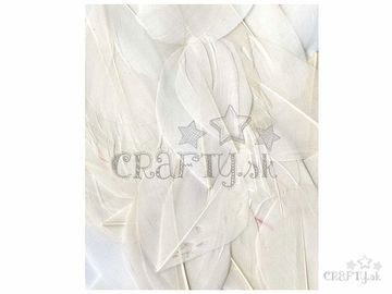 Aranžérske pierka hladké - 3g - biele