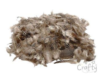 Aranžérske pierka perličky - strakaté - 50g - natural