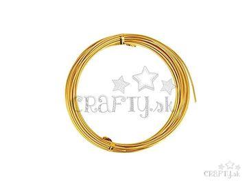 Aranžérsky drôt 1,5mm 5m - zlatý