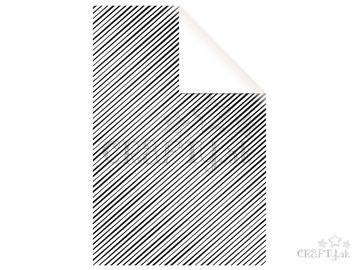 Baliaci papier 70x200cm - biely s čiernymi pásmi