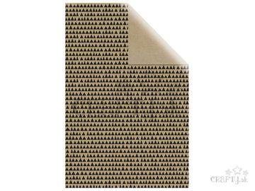 Baliaci papier 70x200cm - čierne trojuholníky