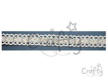 Bavlnená čipka 18mm - krémová