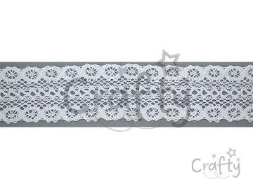 Bavlnená čipka 45mm - biela