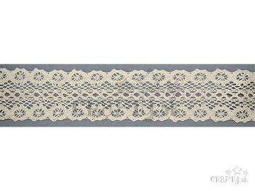 Bavlnená čipka 45mm - krémová