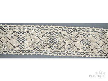Bavlnená čipka 60mm - krémová