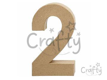 Číslo z papier-mâché 20,5cm - 2
