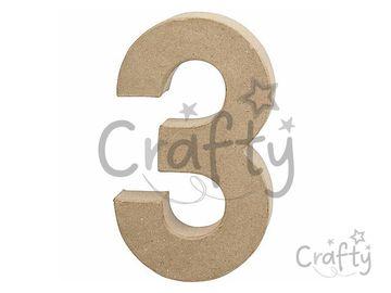Číslo z papier-mâché 20,5cm - 3