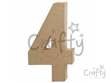 Číslo z papier-mâché 20,5cm - 4