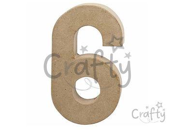 Číslo z papier-mâché 20,5cm - 6