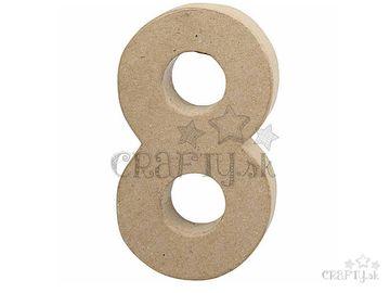 Číslo z papier-mâché 20,5cm - 8